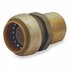 Male Connector, 1 In Tube Sz, DZR Brass