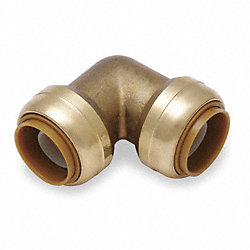Elbow, 90 Deg, 1 In Tube Sz, DZR Brass