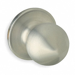 Dummy Corona Knob, Satin Stainless Steel