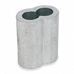 Sleeve, Cable, 5/32, Zinc Plate, Pk25