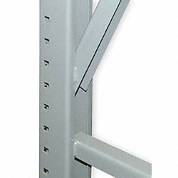 Welded Upright Frame, 36 D x 120 H, Green