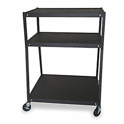 Cart, 3 Shelves, Black