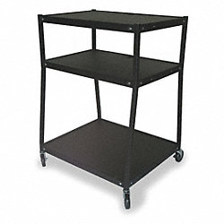Cart, Wide Body, 3 Shelves, Black