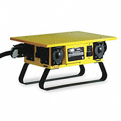 Distribution Box, 50A, 120/240V, Yellow