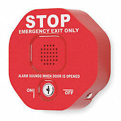 Exit Door Alarm, Double Door, 5 x 5 In.