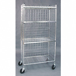 Wire High Cart, 3 Sided, 18 x 36 In