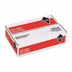Liner, 7 to 10 Gal., Black, LDPE, PK500