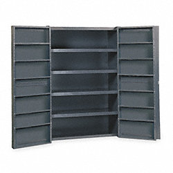 Bin Storage Cabinet, H 72, W48, 16 Shelves