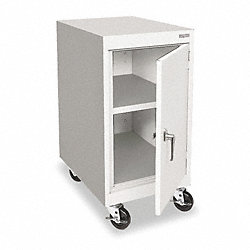 Mobile Storage Cabinet, Welded, Dove Gray