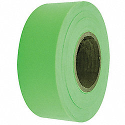 Flagging Tape, Fluorescent Lime, 150 ft