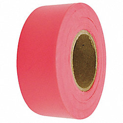 Flagging Tape, Fluorescent Red, 150 ft