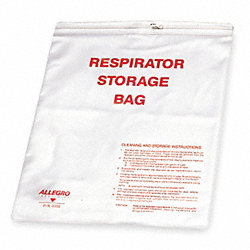 Respirator Storage Bag, Clear, Vinyl