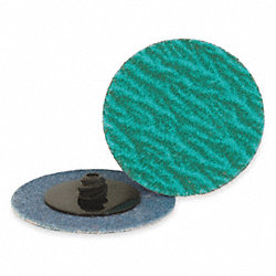Locking Disc, ZircAlO, 3in, 120Grit, TR, PK25