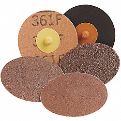 Locking Disc, AlO, 3in, 50 Grit, TR, PK50