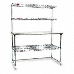 AdjusTable(R) Worktable, C Frame, w/Shelf