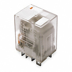 Relay, Ice Cube, DPDT, 24VAC, Coil Volts