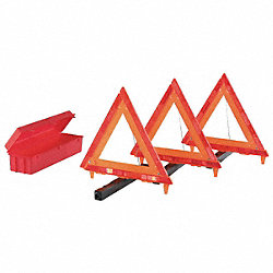 Triangle Warning Kit, Storage Box, 3 Pc