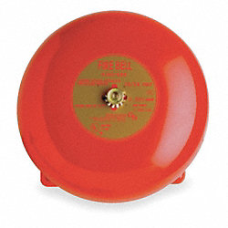 Fire Bell, Red, H 3 11/32 x L 6 x W 6 In