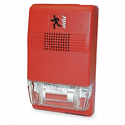 Strobe Wall Mount, Red, L 4 1/2 In