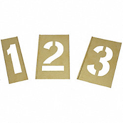 Interlocking Stencil, Numbers, Brass