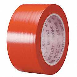 Marking Tape, 3In W, 108 ft. L, Red