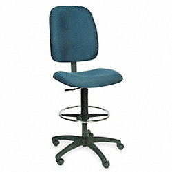 Drafting Chair, 23 1/2 H In, Gray
