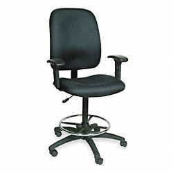 Drafting Chair, 23 1/2 H Inx20 1/4W, Black