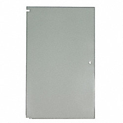 Partition Door, 36 In W, Steel, Gray