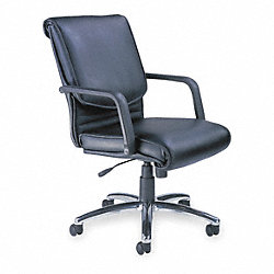 Alliance Executive Chair, Leather, Black