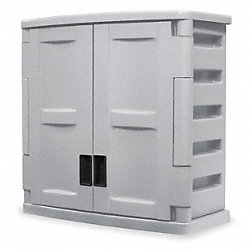 Storage Cabinet, 1 Shelf, Gray