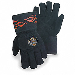 Cut Resistant Gloves, Black/Orange, L, PR