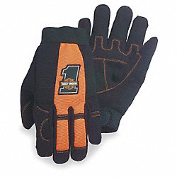 Mechanics Gloves, Black/Orange, M, PR