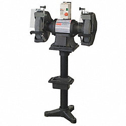 Bench Grinder, 12 In, 1725 RPM, 2HP, w/Stand