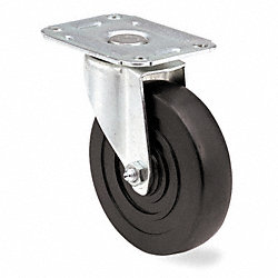 Swivel Plate Caster, 100 lb, 2 In Dia