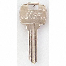 Key Blank, Brass, Type FA3, 6 Pin, PK 10