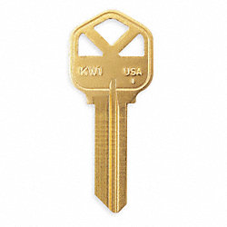 Key Blank, Brass, Type 1176, 5 Pin, PK 50