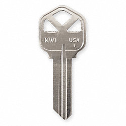 Key Blank, Nickel, Type 1176, 5 Pin, PK 50