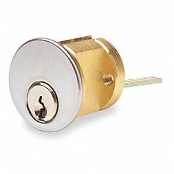 Brass Cylinder, Chrome, 5 Pin, 2 Keys