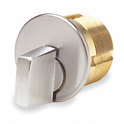 Brass Cylinder, Chrome, 5 Pin