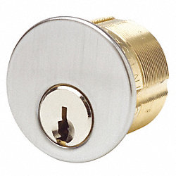 Brass Cylinder, Chrome, PK 2