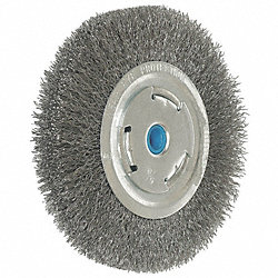 Crimped Wire Wheel, 10 In Dia, 0.0140 Wire