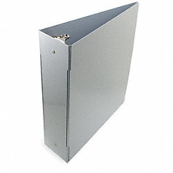 Three Ring Binder, 10 15/16 In W, Silver