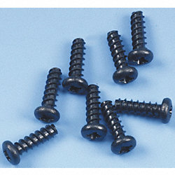 Screw, Self-Tapping, Black, PK 8