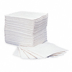 Absorbent Pads, 15 In. W, White, PK 100