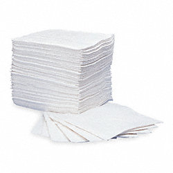 Absorbent Pads, 15 In. W, White, PK 200