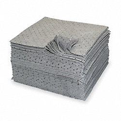 Absorbent Pads, Gray, 15 In. W, PK 100