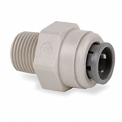 Straight Adapter, 3/8 In Tube OD, PK 10