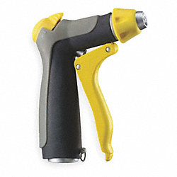 Water Nozzle, Yellow/Black/Gray, 5-3/8In L