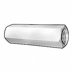 Rod Coupling Nut, Grade2, 3/8-16, Pk5