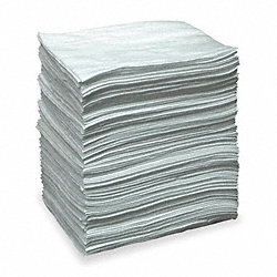 Absorbent Pads, White, 19 In. L, PK 200